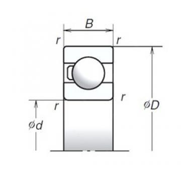 45 mm x 75 mm x 16 mm  NSK 6009T1X TAB High Durability Ball Screw Support Bearing