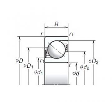 40 mm x 90 mm x 23 mm  NSK 40TAC03AT85 Super-precision bearings