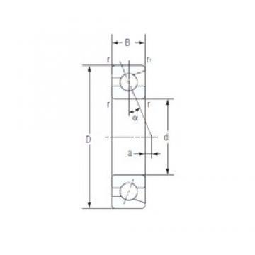 30 mm x 62 mm x 16 mm  NACHI 7206AC Super high-speed angular contact ball bearings