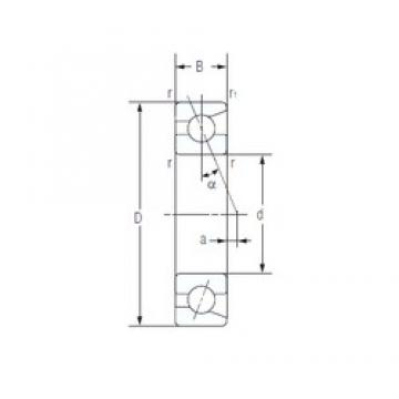 35 mm x 72 mm x 17 mm  NACHI 7207AC TAB High Durability Ball Screw Support Bearing