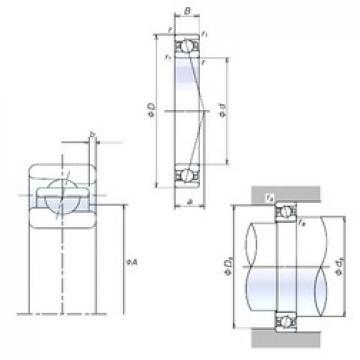100 mm x 150 mm x 24 mm  NSK 100BER10H Standard angular contact ball bearing