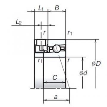 50 mm x 72 mm x 12 mm  NSK 50BNR19XE Ultra-high-speed angular contact ball bearings