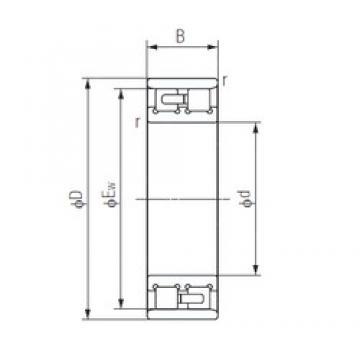 150 mm x 225 mm x 56 mm  NACHI NN3030 TAC series for ball screw support