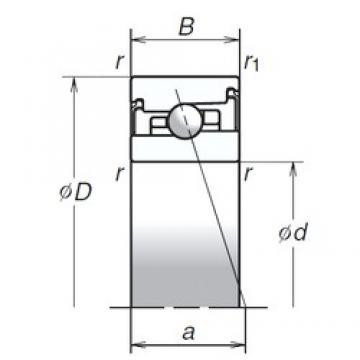 40 mm x 68 mm x 18 mm  NSK 40BER20HV1V Special Polyamide cage design Precision Bearings