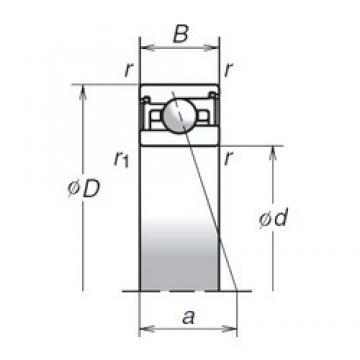 45 mm x 68 mm x 14 mm  NSK 45BER29XV1V Thrust Load Angular Contact Ball Bearings