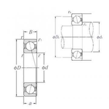 35 mm x 47 mm x 7 mm  NTN 7807C Standard angular contact ball bearing