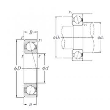 50 mm x 90 mm x 20 mm  NTN 7210C Tandem arrangement Bearings