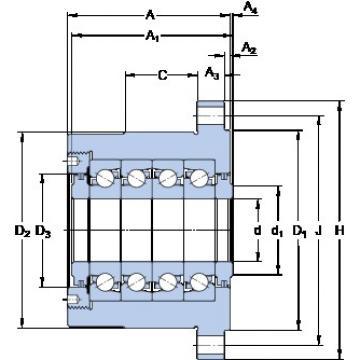 SKF FBSA 212 A/QFC Super Precision Sealed Angular Contact Ball Bearings