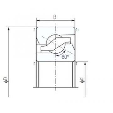 45 mm x 100 mm x 20 mm  NACHI 45TAB10 Special Polyamide cage design Precision Bearings