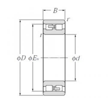 85 mm x 130 mm x 34 mm  NTN NN3017 Special Polyamide cage design Precision Bearings