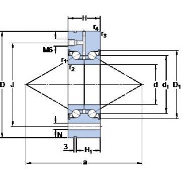 SKF BEAM 020068-2RS/PE Super Precision Sealed Angular Contact Ball Bearings