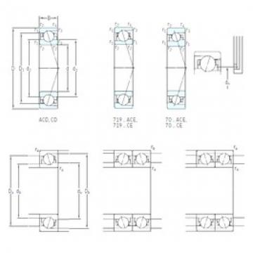40 mm x 62 mm x 12 mm  SKF 71908 CE/P4A Super high-speed angular contact ball bearings