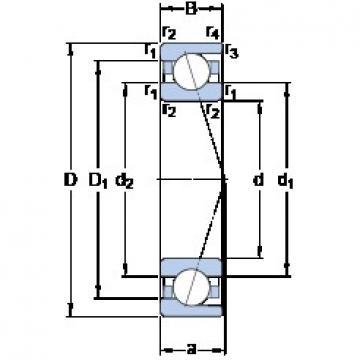 40 mm x 52 mm x 7 mm  SKF 71808 ACD/P4 Ultra-high-speed angular contact ball bearings