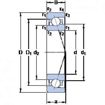 30 mm x 55 mm x 13 mm  SKF 7006 CE/P4A Thrust Load Angular Contact Ball Bearings