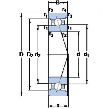 95 mm x 145 mm x 24 mm  SKF 7019 CB/HCP4A Thrust Load Angular Contact Ball Bearings