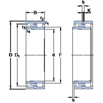 220 mm x 300 mm x 80 mm  SKF NNU 4944 BK/SPW33 Tandem arrangement Bearings