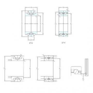 95 mm x 145 mm x 22,5 mm  SKF BTM 95 ATN9/P4CDB TAC series for ball screw support
