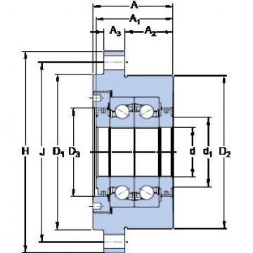SKF FBSA 210/DF Super high-speed angular contact ball bearings
