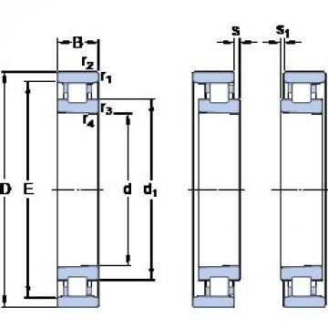 85 mm x 130 mm x 22 mm  SKF N 1017 KTNHA/HC5SP Super high-speed angular contact ball bearings