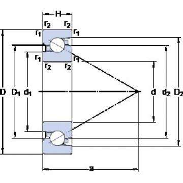 SKF BSA 205 C TAB High Durability Ball Screw Support Bearing